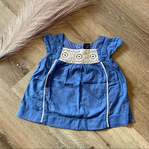 🌟 4/$12 BABY GAP TODDLER 12-18 mo blue dress